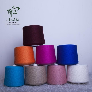 Colored cashmere yarn